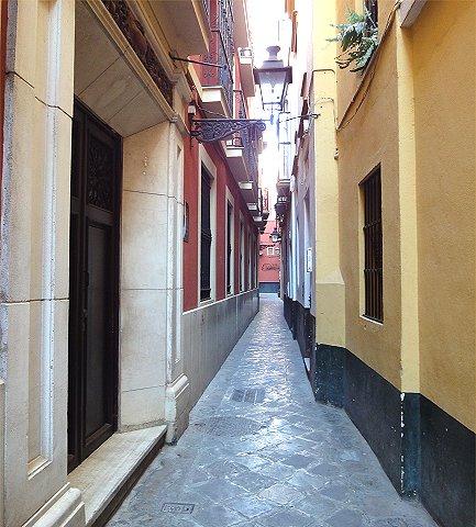Seville oldtown street.