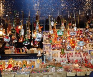 Bright bauble stall.