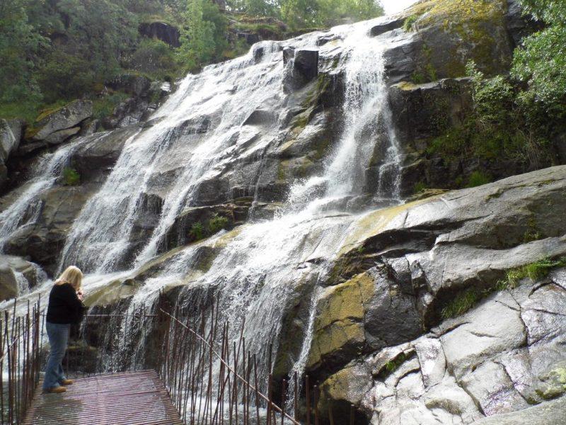 Spanish waterfalls in the Extremadura.