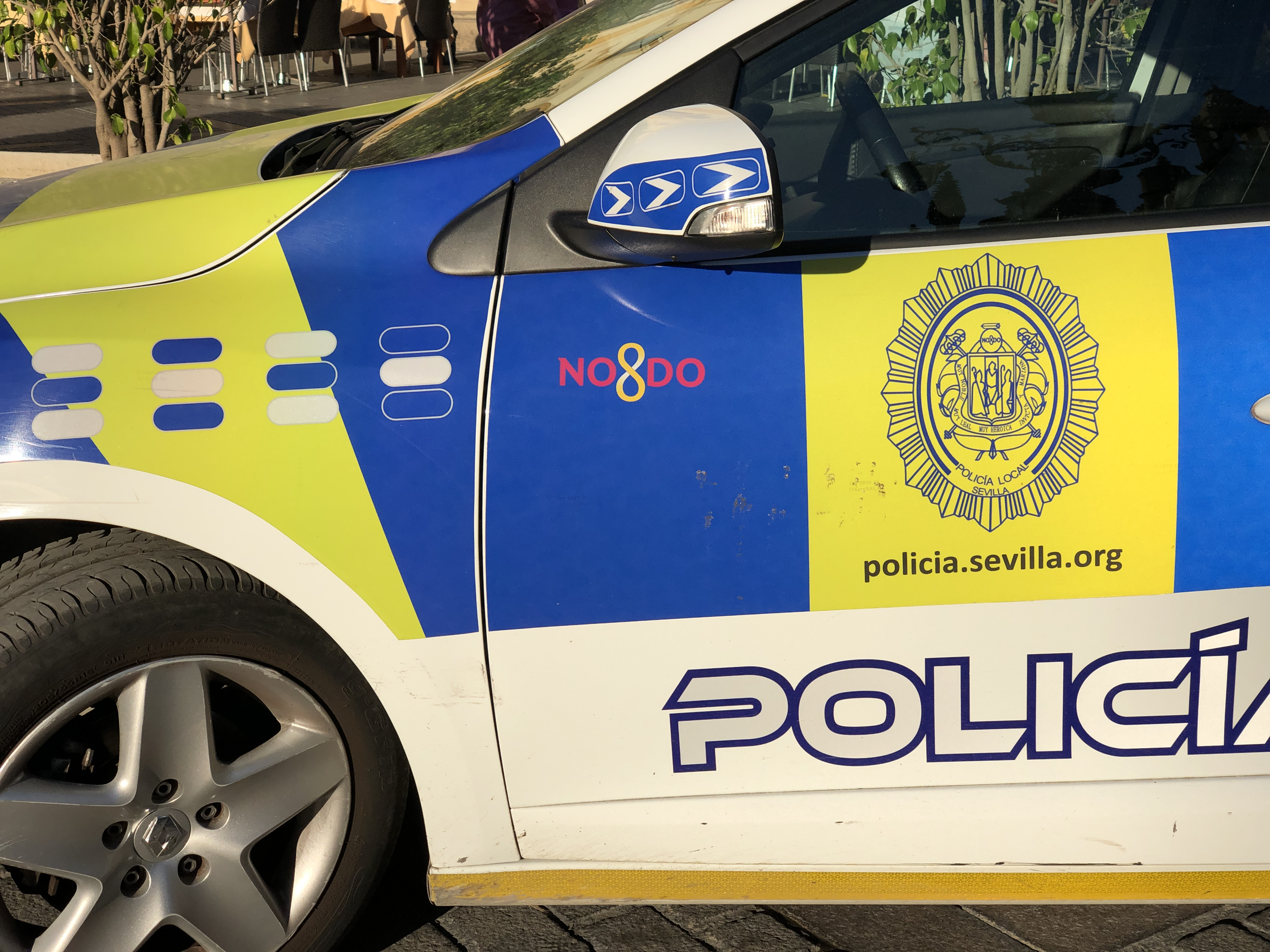 NO8DO on all Seville Police vehicles.
